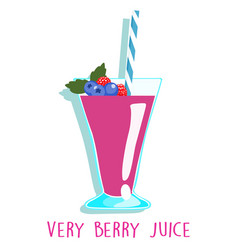 Mixed berries delicious healthy juice vector