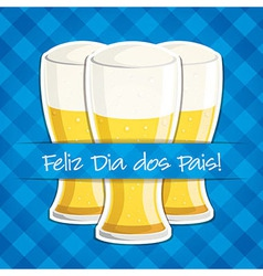 Arabic happy fathers day beer card in format vector