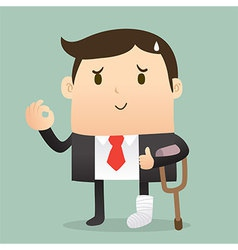 Injured businessman vector