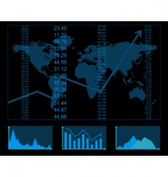 finance report vector image