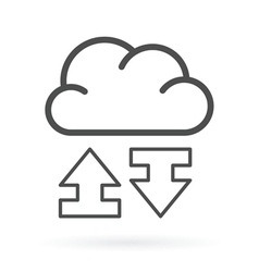 Data exchange cloud service icon vector