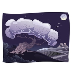 Countryside in the night vector