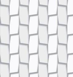 Geometrical ornament with white and light gray vector