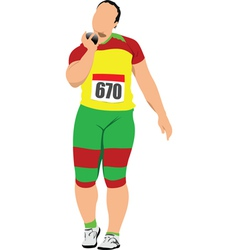Shot putter vector
