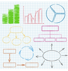 Graphs and diagrams on squared paper vector