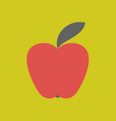 apple icon in trendy flat style isolated on vector image