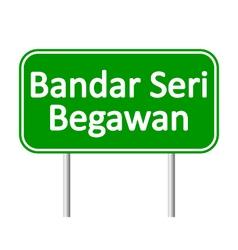 Bandar Seri Begawan road sign vector image