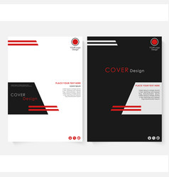 Black square annual report cover design template vector