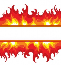 burning fire vector image