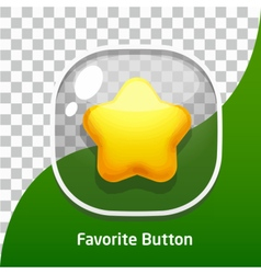 Button glass star favorite vector