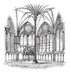 Chapter-house salisbury cathedral architecture vector