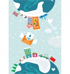 Christmas worlds vector image