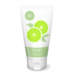 Citrus cosmetics with lime vector