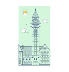 City hall toronto canada vector