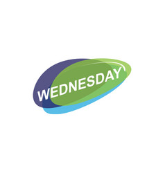 Colorful wednesday icon vector