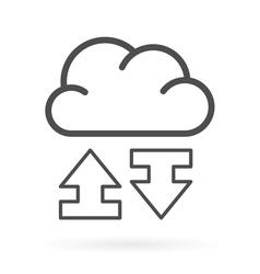 Data exchange cloud service icon vector