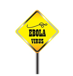Ebora virus warning sign vector