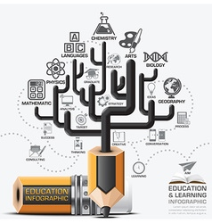 Education and learning step infographic with tree vector
