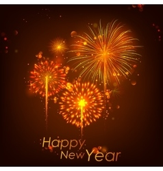 Happy New Year celebration abstract Starburst vector image vector image