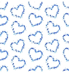 Hearts contours on white seamless pattern vector image vector image