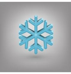 Icon weather Snowflake vector image