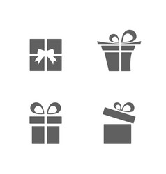 isolated gifts icons set on white background vector image vector image