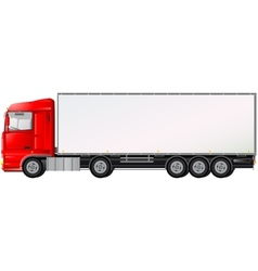 isolated red truck on white background vector image vector image