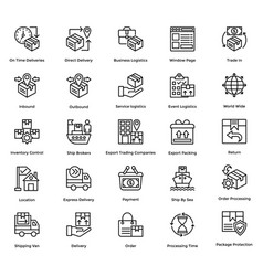 Logistic delivery icons set 1 vector