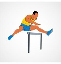 Man jump hurdles vector image vector image