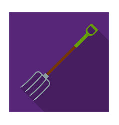 metal garden forks with plastic handle for working vector image