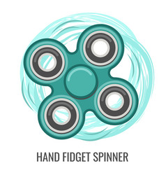 moving hand fidget spinner color green toy vector image
