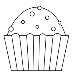 muffin cake icon outline style vector image vector image