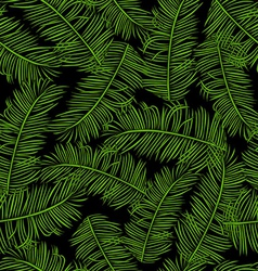 Retro background with branches of palm vector image vector image