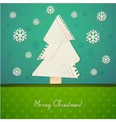 Ripped paper christmas design vector