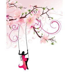 sakura swing Converted vector image