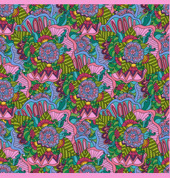 Seamless pattern bright fashionable vector