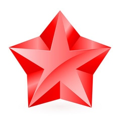 Shiny RED star 06 vector image