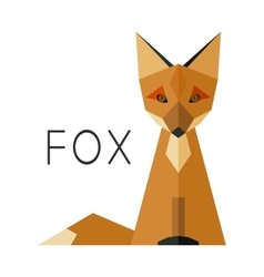 Simple fox logo vector