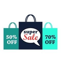 Super sale flat vector image