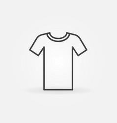 Tshirt minimal outline icon t-shirt symbol vector
