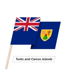 Turks and caicos islands ribbon waving flag vector