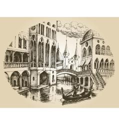 Venice gondola vector image