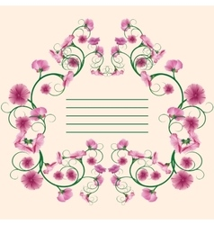 Vintage card floral style vector image