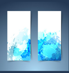 Watercolor art splatter abstract modern banner vector