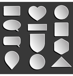 White icons set vector