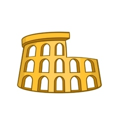 Roman coliseum icon cartoon style vector