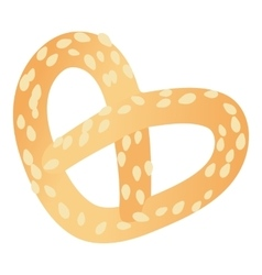 Pretzels icon cartoon style vector