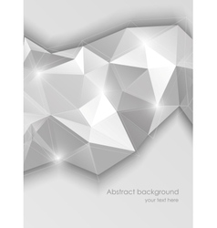 Background with gray triangles vector image