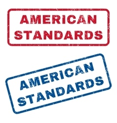American standards rubber stamps vector