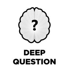 Brain question creative icon smart intelligence vector